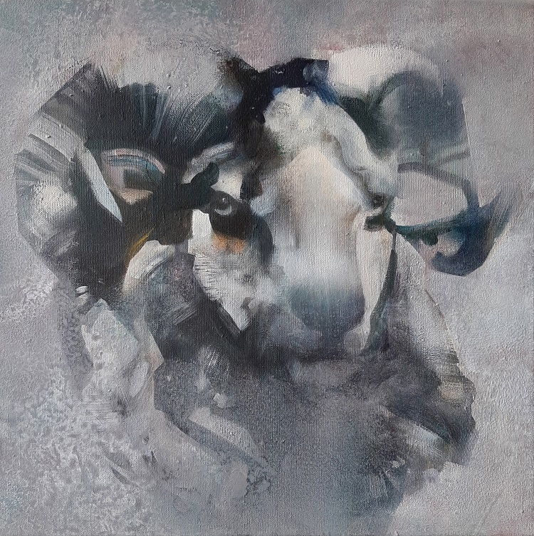 'Aries'- 40x40 cm-acrylics on canvas-SOLD