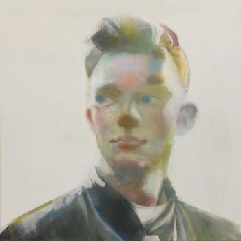 'Nog een jongen' 40x40 cm acrylverf op doek VERKOCHT