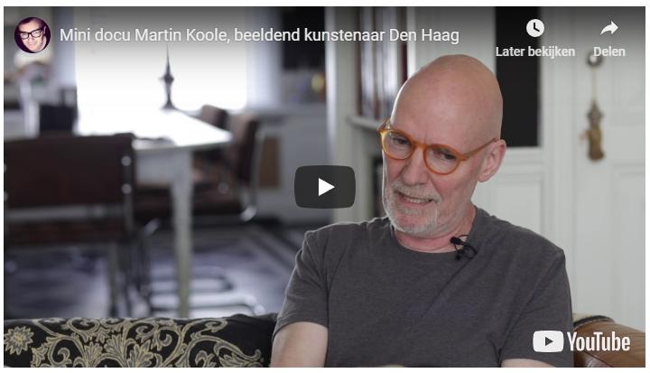 Mini documentaire Martin Koole geportretteerd als beeldend kunstenaar Den Haag
